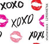 xoxo brush lettering signs... | Shutterstock .eps vector #1290048766