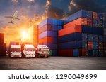 industrial container cargo...   Shutterstock . vector #1290049699