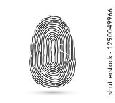 fingerprint icon isolated on... | Shutterstock .eps vector #1290049966