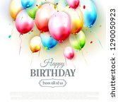 happy birthday greeting card... | Shutterstock .eps vector #1290050923