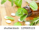 homeopathic medication with... | Shutterstock . vector #129005123