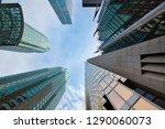toronto skyline in financial...   Shutterstock . vector #1290060073