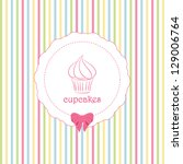 cupcake label background on...