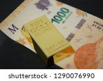 pure gold bar | Shutterstock . vector #1290076990