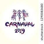 carnaval 2019 logo in... | Shutterstock .eps vector #1290083680
