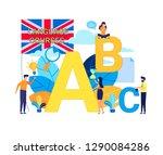 vector flat illustration ... | Shutterstock .eps vector #1290084286