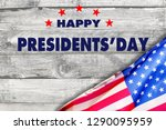 Happy Presidents Day With Flag...