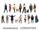 vector human character.city... | Shutterstock .eps vector #1290107233