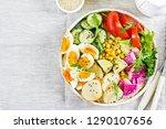 fresh salad. vegetarian buddha... | Shutterstock . vector #1290107656