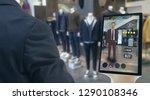 iot smart retail futuristic... | Shutterstock . vector #1290108346