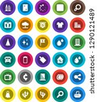 white solid icon set  towel...   Shutterstock .eps vector #1290121489