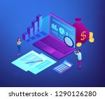 financial analysts with... | Shutterstock .eps vector #1290126280