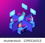 customer service operators... | Shutterstock .eps vector #1290126313