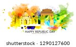 illustration of happy indian... | Shutterstock .eps vector #1290127600