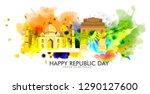 illustration of happy indian... | Shutterstock .eps vector #1290127600