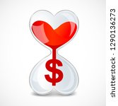 hourglass in heart shape with...   Shutterstock .eps vector #1290136273