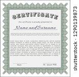 green sample certificate.... | Shutterstock .eps vector #1290139873