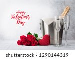 valentine's day greeting card... | Shutterstock . vector #1290144319