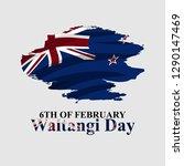 happy waitangi day  new zealand ... | Shutterstock .eps vector #1290147469