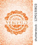 verified orange tile background ... | Shutterstock .eps vector #1290150823