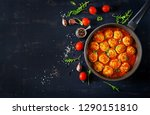 chicken meatballs with tomato... | Shutterstock . vector #1290151810