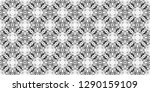 seamless black and white... | Shutterstock . vector #1290159109