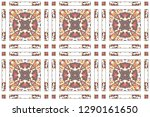 colorful mosaic seamless... | Shutterstock . vector #1290161650
