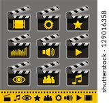 video and audio icon set | Shutterstock .eps vector #129016358