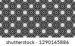 seamless black and white... | Shutterstock . vector #1290165886