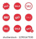 sale icons set  sale tag vector ... | Shutterstock .eps vector #1290167530