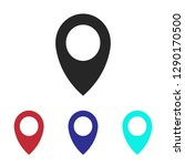 location icon vector | Shutterstock .eps vector #1290170500