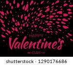 heart confetti background of... | Shutterstock .eps vector #1290176686