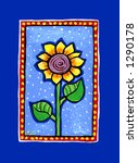 Country Sunflower Illustration/Painting - stock photo