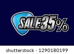 sale 35   beautiful greeting... | Shutterstock .eps vector #1290180199