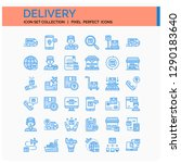 delivery icons set. ui pixel...