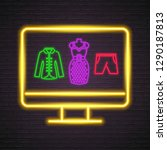computer screen clothes neon... | Shutterstock .eps vector #1290187813