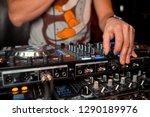 dj console at the nightclub....   Shutterstock . vector #1290189976