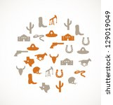 texas icons | Shutterstock .eps vector #129019049