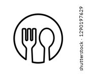 spoon and fork icon templates   Shutterstock .eps vector #1290197629