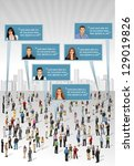 crowd of business people... | Shutterstock .eps vector #129019826