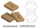box packaging die cut template... | Shutterstock .eps vector #1290201313