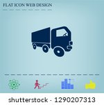 pictograph of truck | Shutterstock .eps vector #1290207313