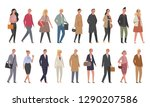 a diverse fashion set of people ... | Shutterstock .eps vector #1290207586