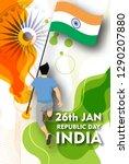 illustration of happy indian... | Shutterstock .eps vector #1290207880