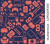 gadgets and devices pattern   Shutterstock .eps vector #1290209350