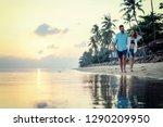 beautiful young love happy... | Shutterstock . vector #1290209950