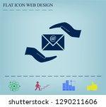 insurance correspondence icon... | Shutterstock .eps vector #1290211606
