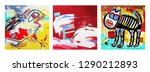 set of unusual original art... | Shutterstock .eps vector #1290212893
