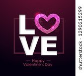 happy valentines day background ... | Shutterstock .eps vector #1290215299