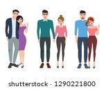 couple vector character set....   Shutterstock .eps vector #1290221800